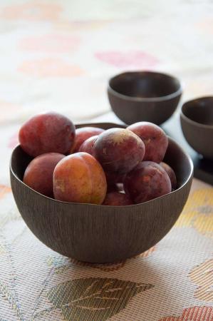 Sort keramik skål
