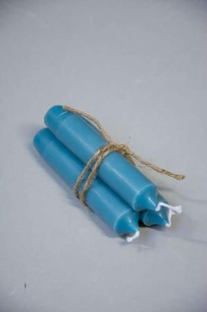 Stearinlys - Blå bedelys