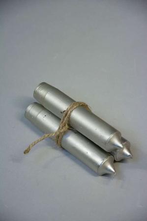 Stearinlys - Sølv bedelys