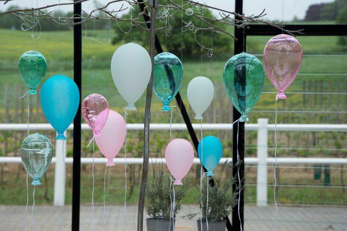 Glasfigurer - farverige balloner