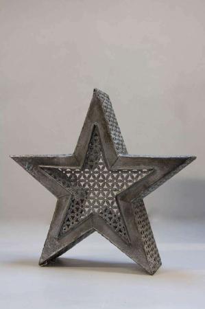Indendørs lanterne - stjerne lanterne af jern