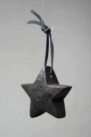 Sort træ stjerne - juleophæng