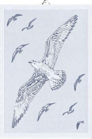 Økologisk viskestykke fra Ekelund - Blå - Albatross 48x70