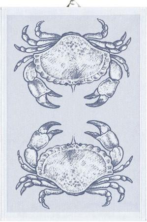 Økologisk viskestykke fra Ekelund - Blå - Crab