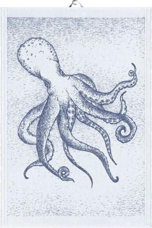 Økologisk viskestykke fra Ekelund - Blå - Octopus