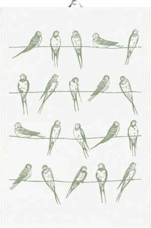 Økologisk viskestykke fra Ekelund - Sitting birds 04