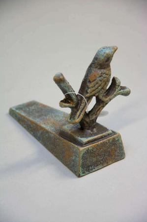 Dørstopper af jern - fugl