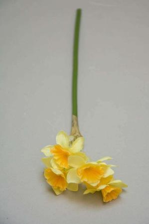 Plastik blomster - Gul påskelilje