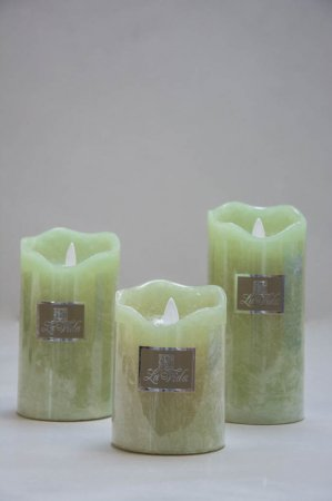 LED Bloklys med timer funktion - lime grøn