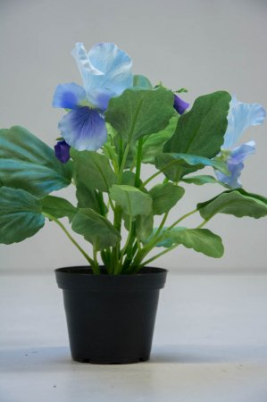 Kunstige blomster - Tofarve stedmoderblomst i potte
